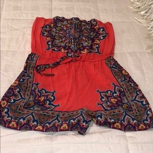 Romper.  Coral and multicolor designs